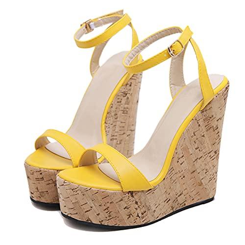 Zapatos de Plataforma para Mujer Sandalias cómodas de Verano con Correa en...