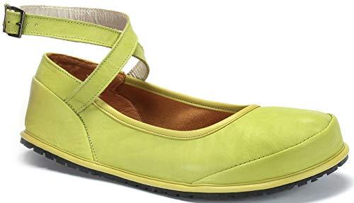 Magical Shoes - Anna - Ballerinas | Barfußschuhe | Damen | Zero Drop | Flexibel | Rutschfest | Natur-Leder, Größe:42 / 270mm, Farbe:Ballerina Anna - Grün