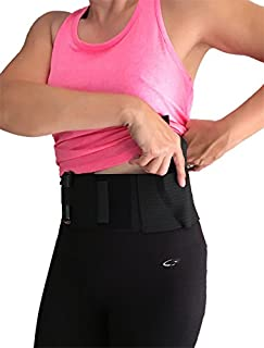 AlphaHolster Women's Belly Band Gun Holster wtih Dual Magazine Holster Cross Draw - Right or Left Hand - Any Gun - Any Clothing