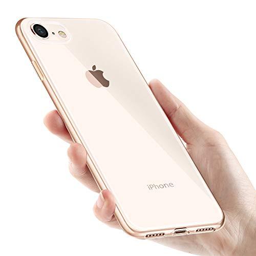 innislink Cover iPhone SE 2020, Cover iPhone 8/7 Custodia iPhone 8 Crystal Clear Silicone TPU Case Anti-Scratch Slim Sottile Flexible Bumper Protettiva Caso per Apple iPhone SE 2020/8/7 - Trasparente