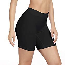 ✿[ NO ROLL SHORT LEGGINGS ] The under skirt shorts are flat edge and above knee length design, which can prevent the hem from curling. These wide elastic waist band can tighten your belly and won't make you feel tight and no roll up at all. ✿[ SEAMLE...
