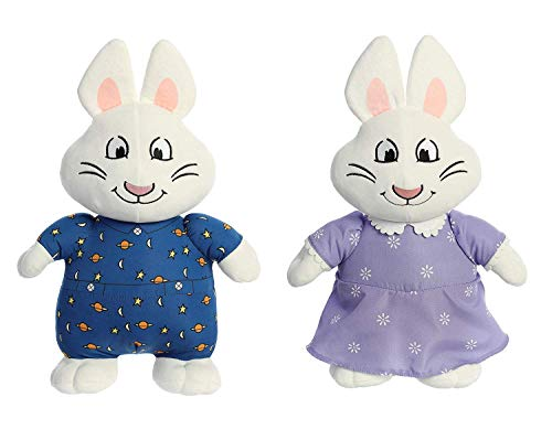 Aurora Bundles of 2: 12 Inch Plush Animals: Max and Ruby Bunnies