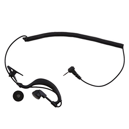 IPOTCH para Escuchar Cable de Bobina de Auricular de Radio de Tubo Corto Enchufe de ángulo de 2,5 Mm