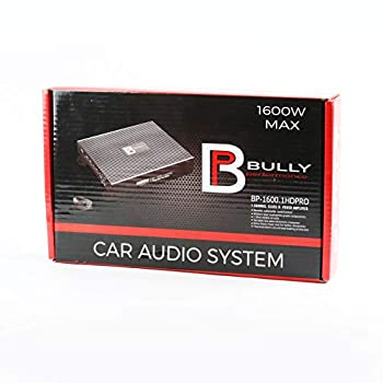 Bully Performance Audio BP-1600.1 HDPRO   1 Channel Class D Power Amplifier   500 Watts RMS   Car Audio System   Bass Amp for Subwoofers