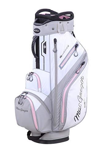 "MacGregor Golf MACTEC Damen 15 Serie Water Resistant Golf Club Cart Bag, 10\"" , Weiß / Orchid"