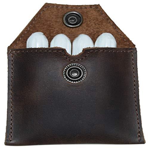 Hide & Drink, Rustic Leather Tampon Case, Condom Holder Pouch, Secret Stash Handmade Includes 101 Year Warranty :: Bourbon Brown