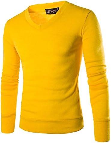 iClosam Jersey De Punto Sueter Hombre Cuello De Pico Marca Jersei Sudaderas Su/éTer Sweater Pullover