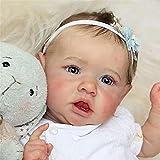 XCTLZG 50 cm Reborn Baby Dolls Newborn Doll e Baby Lovely Real Realista Aspecto Realista Reborn Baby Vinilo Suave Silicona Baby Newborn Dolls