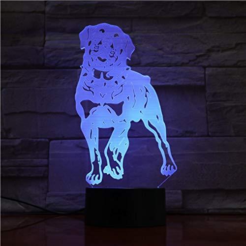 Gouden Retriever hond 3D nachtlampje LED illusie lamp met 7 kleuren wijzigen en afstandsbediening - verjaardagen en kerstcadeaus voor kinderen nachtkastje lamp slaapkamer decoratie