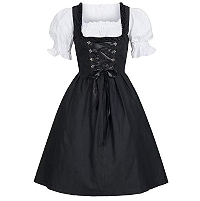 [アルトコロニー] コスプレ 衣装 メイド 服 半袖 ワンピース ドレス ロリータ 可愛い ゴスロリ ホワイト M ~ 5XL