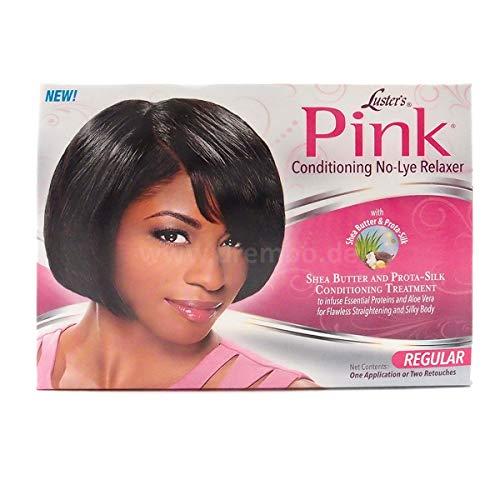 Luster's Kit Défrisant Conditionneur sans Soude Système de Protection Pink Formule pour Cheveux Normaux aux Vitamines et Huiles Essentielles
