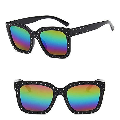 U/N Gafas de Sol clásicas de Montura Grande Gafas de Sol de Compras al Aire Libre para Mujeres-9