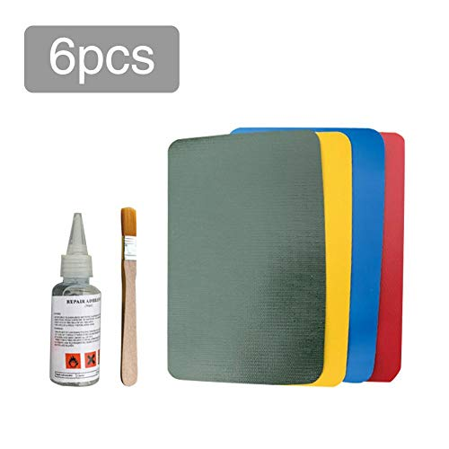 yummyfood 4PCS PVC Wasserfeste Reparaturflicken, Repair Patches Puncture Repair Pool Reparatur Set Patches Kleber Für Schlauchboot, Kajak, Schwimmbäder, Spielzeug