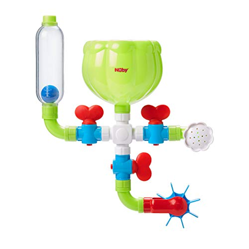 Nuby Wacky Water Works Pipes Bath Toy for 3 Year Olds