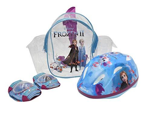 Kinder Fahrrad Schutz-Set Disney Frozen II - Die Eiskönigin 2   Fahrradhelm Gr. 51-55 cm + Knie- und Ellbogenschützer + Tragetasche im Set