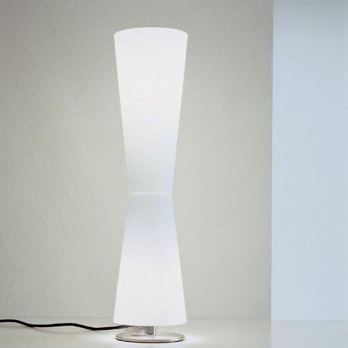 Lu Lu 211 - Lampe de Table blanc opalin/frame chrome
