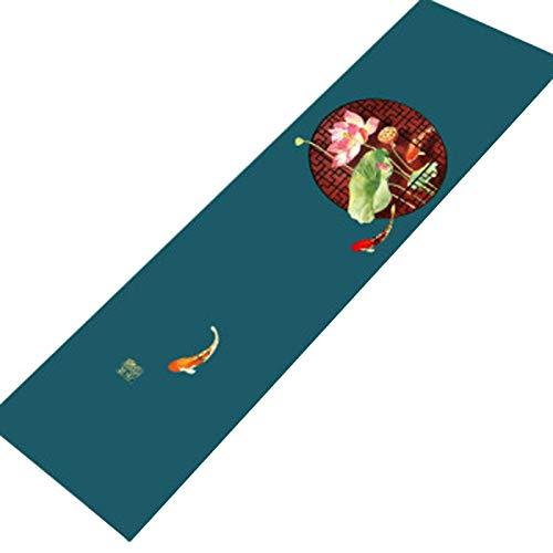 E/A Camino De Mesa Mantel Largo Clásico, Home Fashion Farmhouse Life Camino De Mesa Homestead, Utilizado para La Reunión Familiar De La Granja | Banquete De Bodas (Size:33 * 180cm/in,Color:Koi)