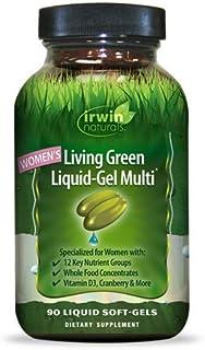 Irwin Naturals Women's Living Green Liquid-Gel Multi Vitamin - 70 Essential Nutrients, Full-Spectrum Vitamins, Wholefood B...