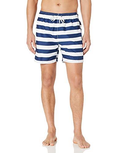 Kanu Surf Men's Riviera Swim Trunks (Regular & Extended Sizes), Troy Navy/White, Medium