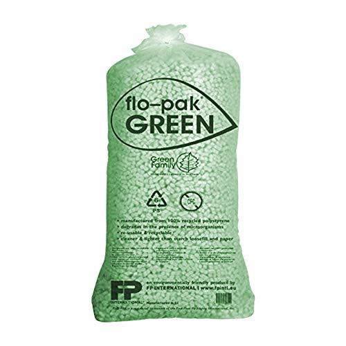 50 Liter Flo-Pak Grün Verpackungschips Füllmaterial Chips Polster thumbnail