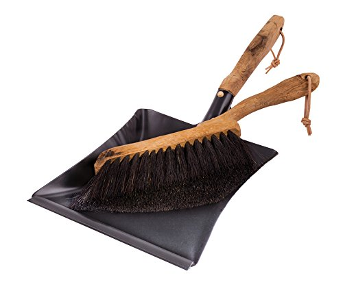 Redecker Vintage Line Horsehair Hand Brush and Dust Pan Set, 17-3/4-Inches