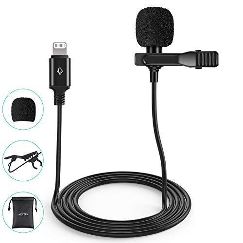 AGPTEK Microphone Clip d'Enregistrement Professionnel, 2M Micro Cravate Omnidirectionnel...