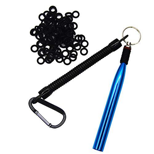 nawaish Wacky Rig Tool and 300 PCS Worm O-Rings,Wacky Ring Tool, Wacky Worm Kit for Senko Stick Soft Baits