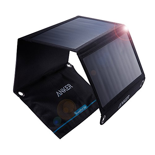 Anker PowerPort Solar (21W 2ポート USB ソーラーチャージャー)【PowerIQ搭載】 iPhone 11 / 11 Pro / 11 Pro Max / XR / 8 / iPad Air 2 / mini 3 / Xperia / Galaxy S10 / S10+、その他Android各種他対応