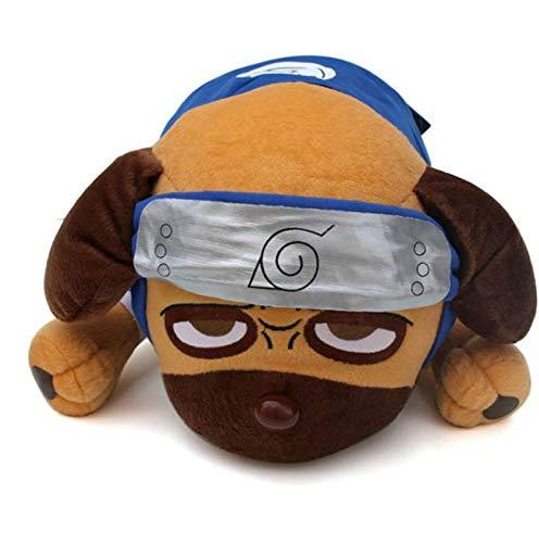Ylout Plüschtier Hund40Cm,Anime Cartoon Naruto Kakashi PuppeHund,Plüsch Weiche Kuscheltiere Spielzeug Für Kinder Kinder Geschenke