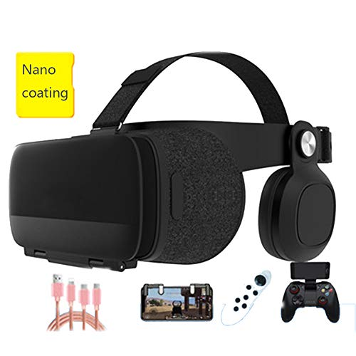 Best Price YANJINGYJ VR Headsets,3D VR Glasses Virtual Reality Glasses, Head-Mounted Audiovisual Int...