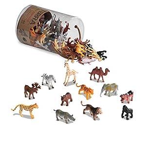 Terra by Battat – Wild Animals – Assorted Miniature Wild Animal Toys For Kids 3+ (60 Pc)