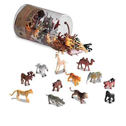 Terra by Battat – Wild Animals – Assorted Miniature Wild Animal Toys For Kids 3+ (60 Pc) Multi  2