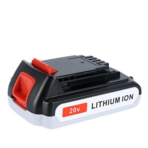 Biswaye 2.5Ah 20V Lithium Battery LBXR20 Replacement for Black & Decker 20-Volt MAX Cordless Tool LCC221 Battery LB20 LBX20 LBXR2020 LBXR2020-OPE LB2X4020 LB2X4020-OPE