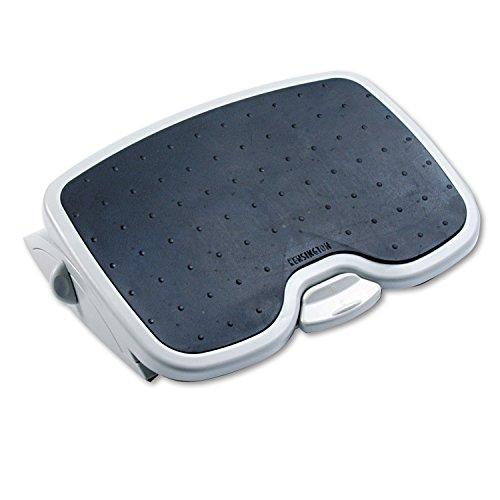 Kensington ergonomische Fußstütze SoleMate Plus für eine verbesserte Körperhaltung, Minderung chronischer Rückenschmerzen und orthopädische Entlastung, schwarz/Grau, 56146