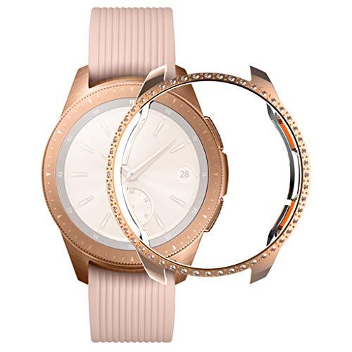 Preisvergleich Produktbild Kompatibel mit Samsung Galaxy Watch Active / Galaxy Watch 42mm Displayschutz, Nourich Ultraflacher Luxuskristall PC Case Schutz Schutzhülle Kratzschutz (Rotgold)