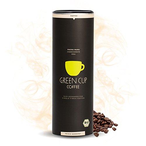 Green Cup Coffee Pacha Mama - der Hochlandkaffee aus Peru - sortenreine Fairtrade Kaffeebohnen - der faire Kaffee für Genießer - Bio Bohnen Mild - 454g ganze Bohne