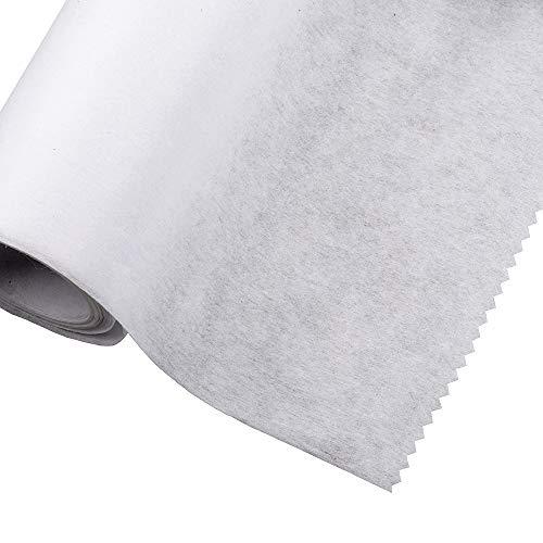 Bügelbare Bügeleinlage – leicht, mittel, schwer, 75 cm breit (Weiß, Medium 2m)