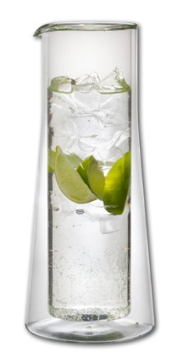 Wasser Karaffe doppelwandig Borosilikatglas 1500 ml