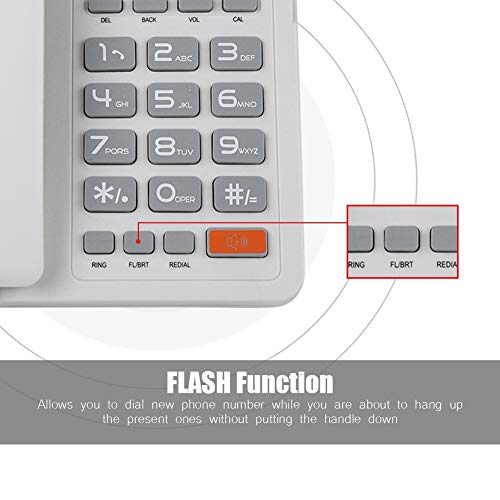 Gaeirt Función de rellamada de teléfono Fijo, para Oficina, para Hotel, para el hogar, para decoración