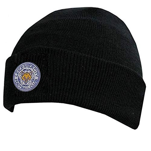 Leicester City Cuff Knitted Hat - Black