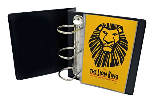 """My Broadway Binder: Stylish Broadway Playbill Binder Organizer, 3.5"""" Spine Holds up to 25 Broadway Playbills, Mini Durable Binder, Black Vinyl with Gold Foil Lettering, Sheet Inserts Sold Separately"""