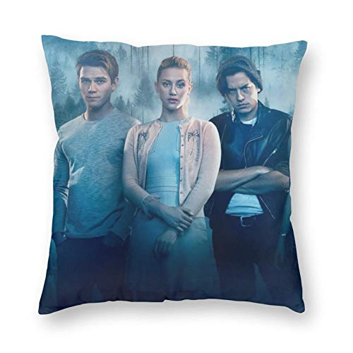 ZVEZVI Soft Square Pillow Covers 18X18 Inch,Riverdale Throw Pillow Case For Sofa, Couch, Car, Bedroom Or Patio Seat Winter Holiday Decoration