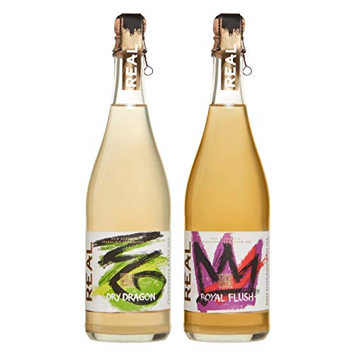 Award-Winning REAL Kombucha - Mixed Case - Fermented as a Premium Non-Alcoholic Sparkling Wine. Ideal for The Non-Drinker. Low Sugar, Low Calories, Natural Ingredients - 6 x 750ml Bottles