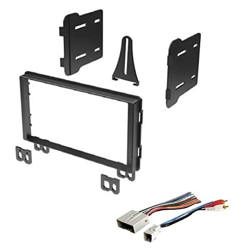 ASC Audio Car Stereo Dash Install Kit and Wire Harness for Installing an Aftermarket Double Din Radio for 2002 2003 2004 2005 2006 Toyota Camry No Factory Premium Amp No Factory NAV Other