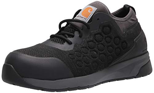 Carhartt Men's Work Shoe Industrial Boot, Black Mesh Grey Synthetic, Numeric_11_Point_5 Wide