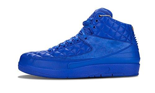 Nike Mens Jordan 2 Retro Don C Bright Blue/Metallic Gold-University Red Leather Size 11 Basketball Shoes
