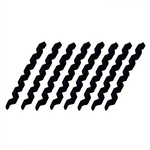 Yuauy 8 piezas negro envoltura espiral bicicleta cable manga goma cubierta protector...