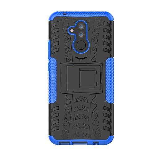 SHIEID Hülle für Huawei Mate 20 Lite-Hülle Tough Hybrid Armor Hülle,Diese Handyhülle Anti-Wrestling Travel Essential Faltbare Halterung für Huawei Mate 20 Lite(Blau)