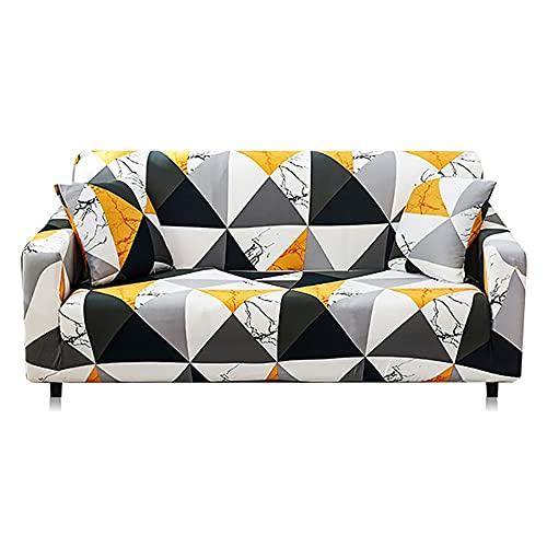 ASCV Fundas de sofá elásticas Antideslizantes Fundas de poliéster Spandex Cuatro Estaciones Todo Incluido Sofá de sofá elástico Toalla A8 4 plazas