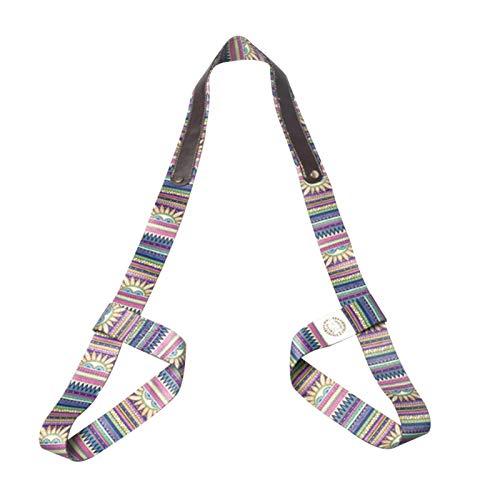 QOTSTEOS Yogamatten-Gurt, universeller Yoga-Matten-Tragegurt, verstellbarer Yoga-Schultergurt, mehrfarbig, für Übungen, Fitness-Zubehör (indisch)